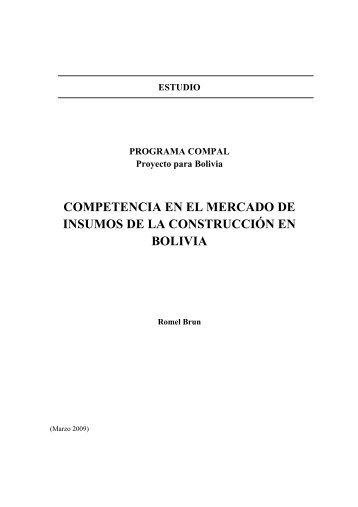 COMPETENCIA EN EL MERCADO DE INSUMOS DE LA ... - Unctad XI
