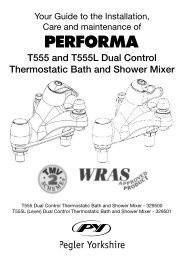 T555 and T555L Dual Control Thermostatic Bath and ... - Pegler