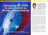 Changing the QMS to meet safety in design requirements