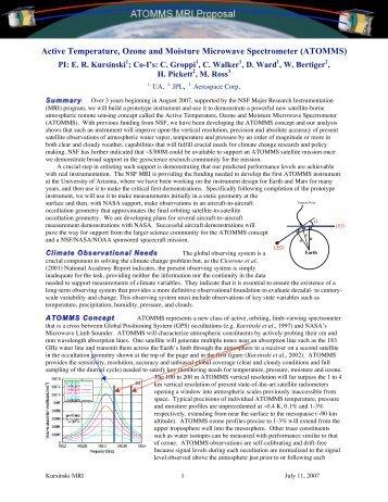 ATOMMS - Modeling, Analysis, and Prediction Program - NASA
