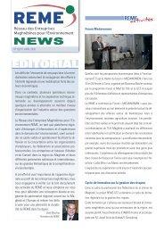 REME NEWS n°9 (avril 2010)