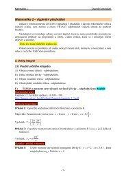 Matematika 2 – doplnění přednášek
