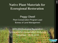 Native Plant Materials for Ecoregional Restoration - Global ...