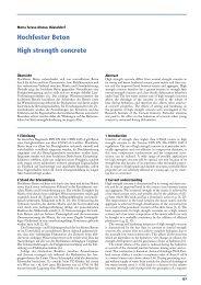 High strength concrete Hochfester Beton - VDZ