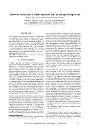 Organisés par : - Laboratoire Parole et Langage