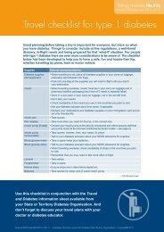 Travel checklist for type 1 diabetes - Australian Diabetes Council