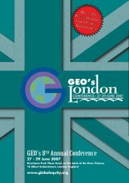 2007 Annual Conference Brochure - GEO