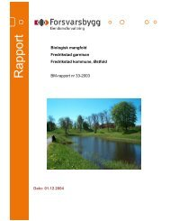 Rapport biologisk mangfold Fredrikstad festning - Forsvarsbygg