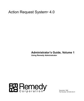 Admin. Guide Vol. 1 - NC State Remedy Implementation