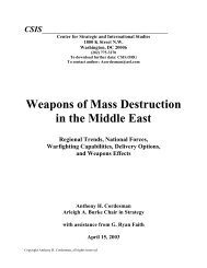 Weapons of Mass Destruction in the Middle East - April ... - Iraq Watch