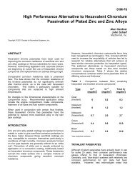MacDermid SAE report trivalent passivates