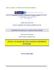 pour un marche financier europeen integre - Académie des ...