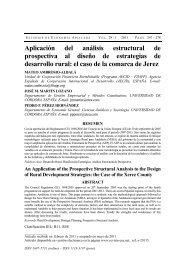 Aplicación del análisis estructural de prospectiva al diseño de ...