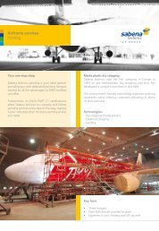 BROCHURE AIRFRAME SERVICES painting - Sabena technics