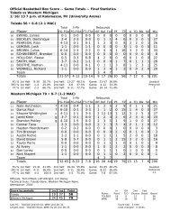 Final Stats (PDF) - University of Toledo Athletics