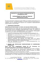 German presidency - CEMR key issues_de - Council of European ...
