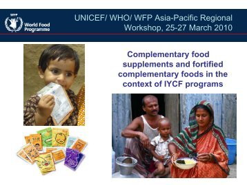 WFP Asia-Pacific Regional Workshop, 25-27 March 2010