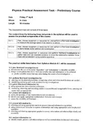 Physics Practical Assessment Task - Preliminary Course