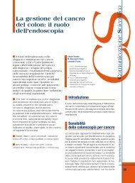La gestione del cancro del colon: il ruolo dell'endoscopia - Sied