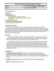 Structural elements of a program: - UCI Environmental Health & Safety