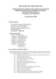 sprawozdanie merytoryczne stowarzyszenia przyjaciół szkół ...