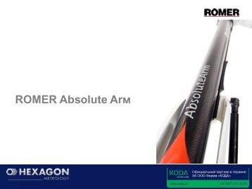 ROMER Absolute Arm. Формат PDF. Язык - Русский. - KODA