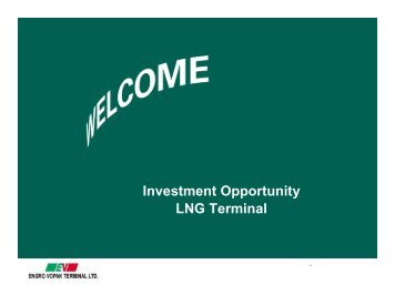 Investment Opportunity LNG Terminal