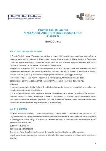 Bando - Ordine degli Architetti della Provincia di Verona