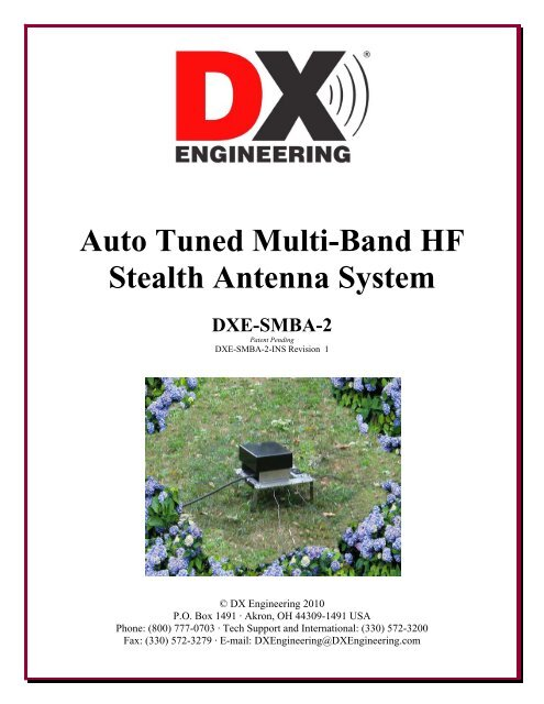Auto Tuned Multi-Band HF Stealth Antenna System - DX Engineering