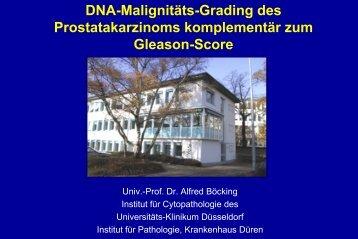 Vortragsfolien zur DNA-Malignitäts-Grading des Prostatakarzinoms ...