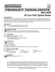 Transtar 6091 MSDS - Auto Body Toolmart