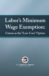 # FINAL REPORT Labors Minimum Wage Exemption
