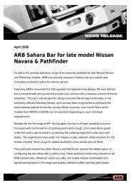 April 08 - Navara & Pathfinder Sahara Bar - ARB