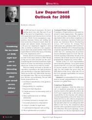 Law Department Outlook for 2008 - Altman Weil