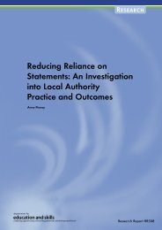Reducing Reliance on Statements - Communities and Local ...