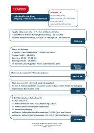 tUc Lehrgang 012011 - SEMtool