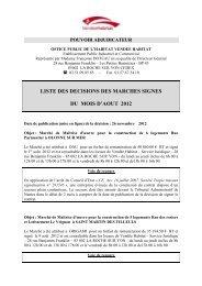 Document liste décision de signer AOUT 2012 - Vendée Habitat
