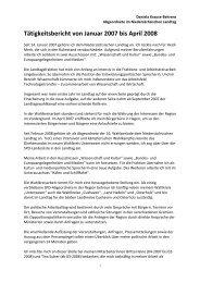 Tätigkeitsbericht 2007-2008, vorgelegt zum ... - Daniela Behrens