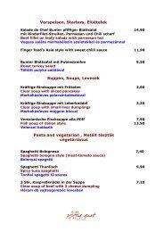Vorspeisen, Starters, Elüételek Suppen, Soups, Levesek Pasta and ...