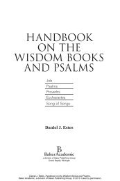 handbook on the wisdom books and psalms - Baker Publishing Group