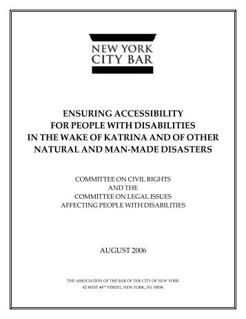 accessibility for people with disabilities - New York City Bar ...