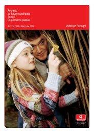 Relatório de Responsabilidade Social: Os primeiros ... - Vodafone