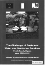 The Challenge of Sustained Water and Sanitation Services - ACT ...