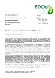 Brief an Horst Seehofer - BDOel
