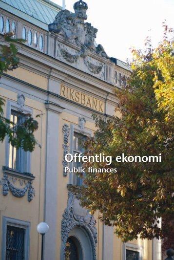 Offentlig ekonomi (pdf) - Statistiska centralbyrån