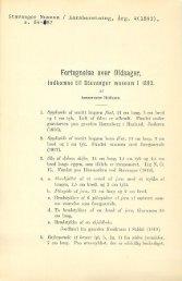 Fortegnelse over oldsager, indkomne til Stavanger Museum i 1893
