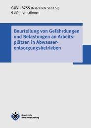 GUV-I 8755 - Beurteilung von Gefährdungen und Belastungen an ...