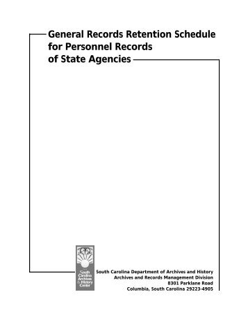 General Records Retention Schedules for Personnel Records