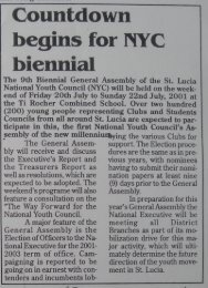 2001 Download entire year here - St. Lucia National Youth Council