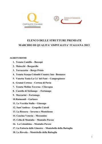 Elenco dei premiati - CCIAA di Pavia